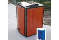 Wood Garbage Can