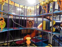 Kids have fun on play events in Baby playground