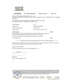 SGS Material test Report 01