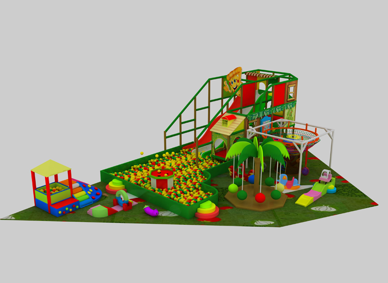 Kids indoor slides order by client in Domingo