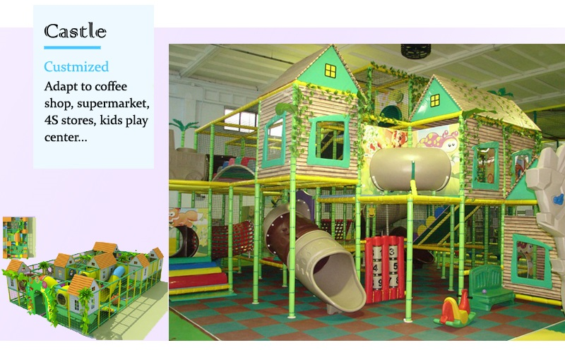 AngelPlayground©-Anti-UV Kids Indoor Play Equipment,100% Customized