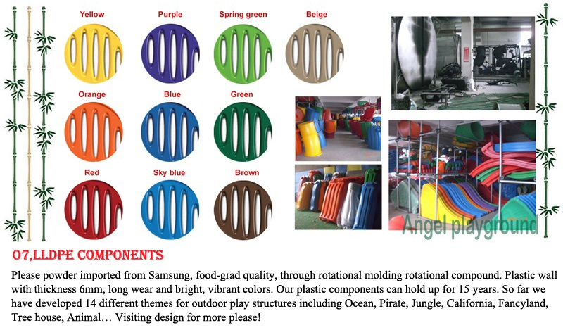 plastic color for baby playground