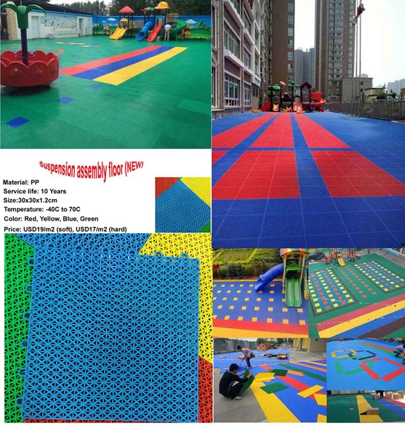 rubber mat for plastic slide