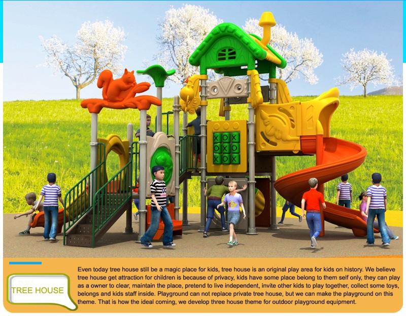 Plastic playground manufacture