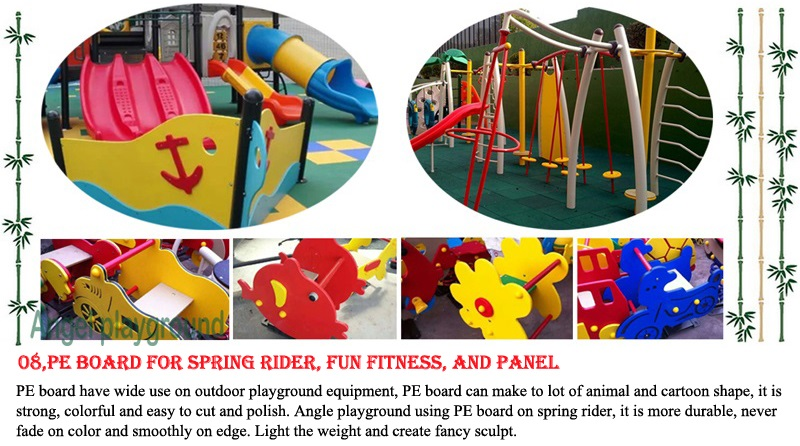 PE components - outdoor play equipment