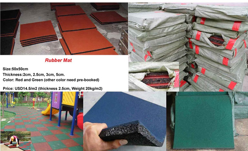 rubber mat for outdoor play structure