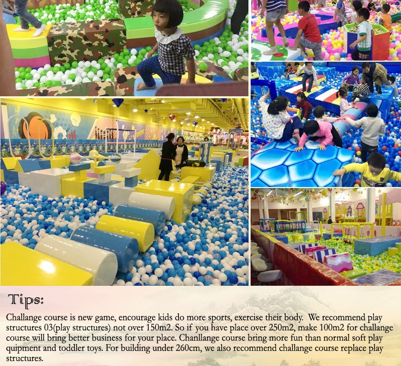 challenge course on indoor playgrounds