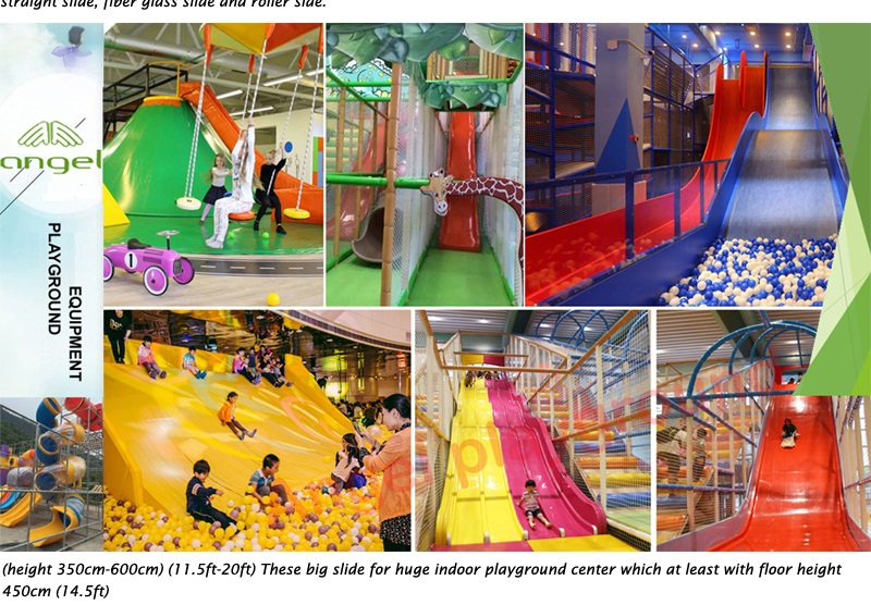slides on top level for playground equipment