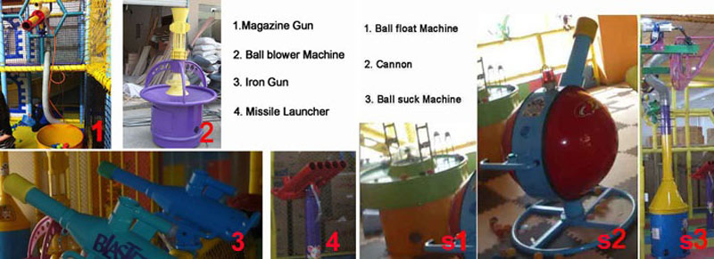 components in kids shooting game