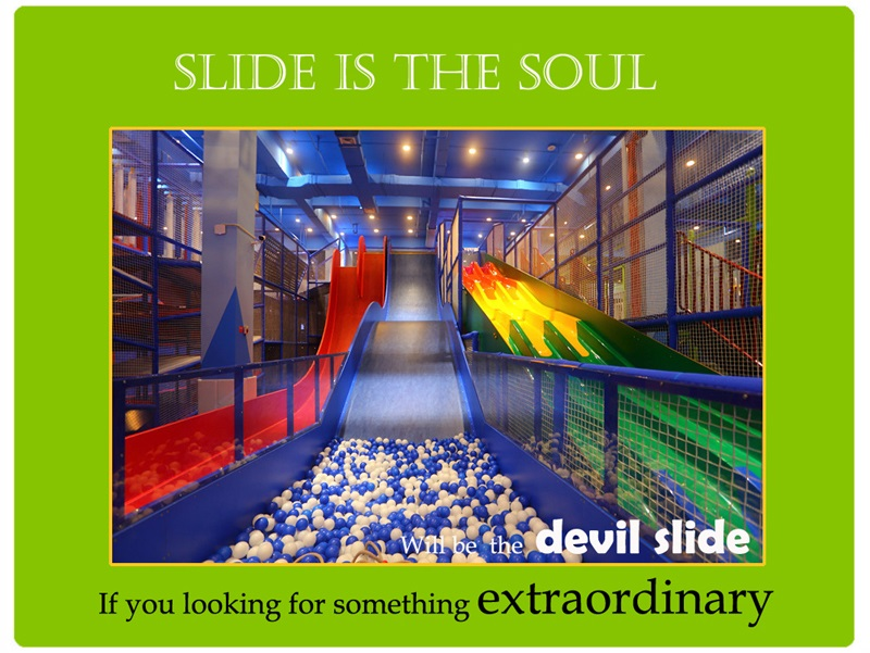 slides for indoor playground
