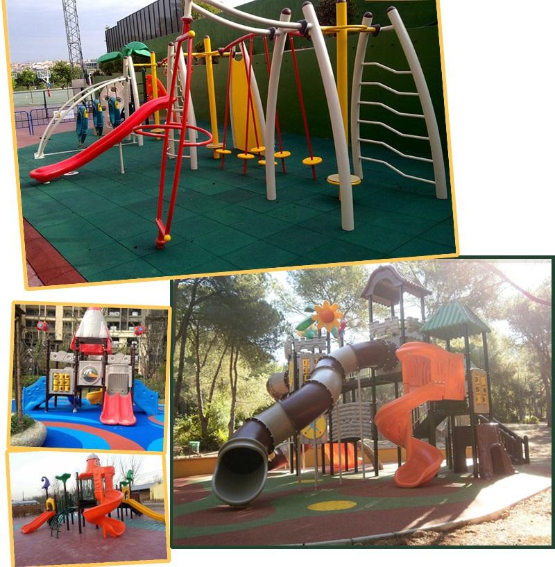 playgrounds de madeira tratada