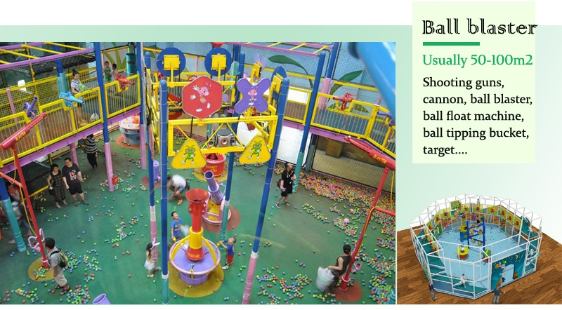 ball blaster for indoor play structures