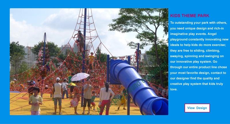 Plastic playground equipment