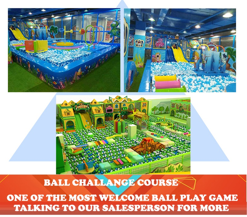 kids indoor challenge course