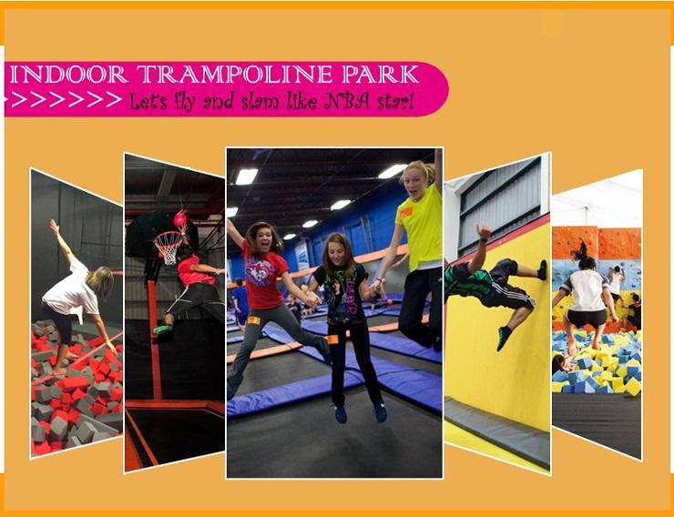 Trampoline land free design for Indoor trampoline park design manufacturing