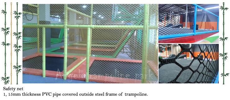 kid trampoline with net