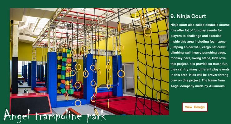 inside trampolines